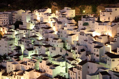 Casares at dusk, Andalusia Spain Stock Photo
