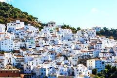 Casares Malaga, white village in Andalusian Mountains, Spain Stock Photos
