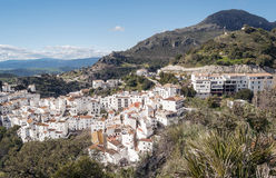Casares with mountains Royalty Free Stock Photography