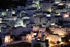 Casares at night. Spain Stock Image