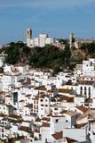 Casares Pueblo Blanco. View of the town and church, pueblo blanco, Casares, Costa del Sol, Malaga Province, Andalucia, Spain, Western Europe Stock Images