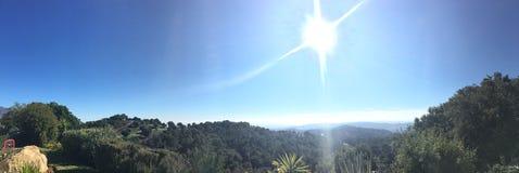 Casares w Andalusia widoku od sierra Crestillina Zdjęcia Royalty Free