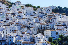 Casares, white village in Andalusian Mountains, Spain Stock Images