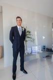 Casarse al novio Dress Foto de archivo libre de regalías