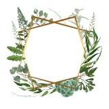 Casarse el marco herbario Imagen de archivo libre de regalías