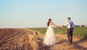 Casarse el paseo Fotos de archivo