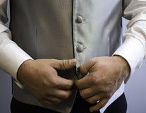 Casarse el traje del novio Fotografía de archivo