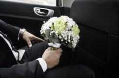 Casarse el traje del novio Fotos de archivo