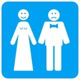 Casarse emociones redondeó el icono cuadrado de la trama libre illustration