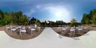 Casarse la ceremonia al aire libre 360VR
