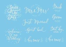 Casarse la decoración simple de las letras Fotografía de archivo libre de regalías