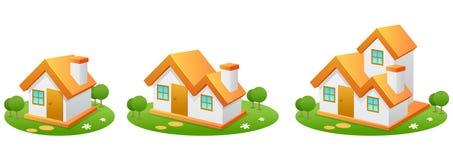 Casas stock de ilustración