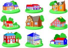 Casas Imagem de Stock