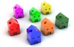 casas 3D ilustração stock