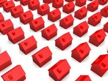 Casas 3d simples Imagens de Stock Royalty Free