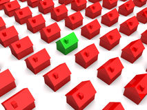 Casas 3d simples Fotos de Stock Royalty Free