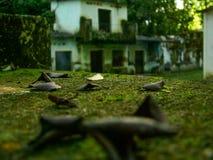 Casas abandonadas Imagen de archivo libre de regalías