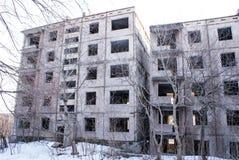Casas abandonadas en Pripyat Fotografía de archivo