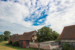 Casas abandonadas velhas Imagens de Stock