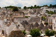 Casas-alberobello de Trulli Imagem de Stock Royalty Free