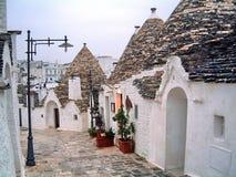 Casas Alberobello de Trulli Foto de archivo libre de regalías