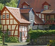 Casas alemãs da exploração agrícola Imagem de Stock