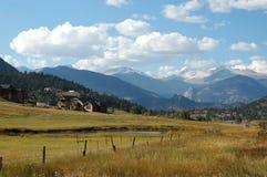 Casas alrededor de Boulder, Colorado Foto de archivo libre de regalías