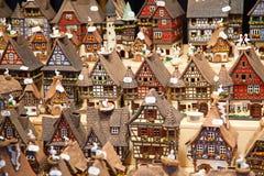 Casas Alsatian Imagen de archivo libre de regalías