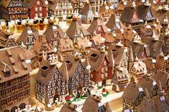 Casas Alsatian Fotografía de archivo libre de regalías