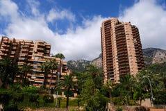 Casas altas residenciais de Monaco Fotografia de Stock Royalty Free