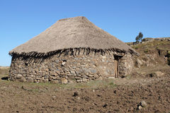 Casas, Amhara, Etiópia, África Fotos de Stock