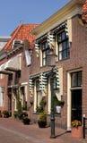 Casas & lâmpada de rua Fotografia de Stock Royalty Free