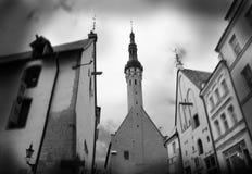 Casas antigas em Tallinn velho Fotografia de Stock