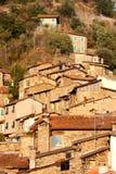 Casas antigas na vila de Apricale, Italy Imagem de Stock Royalty Free