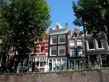 Casas antiguas en Amsterdam, Netherland imagen de archivo