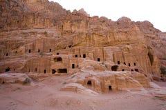 Casas antiguas en Petra Jordania Fotos de archivo libres de regalías