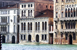 Casas ao longo do canal grande, Veneza imagens de stock royalty free