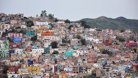 Casas apretadas Guanajuato Foto de archivo