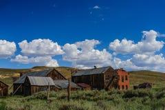 Casas arruinadas en un pueblo fantasma americano Fotografía de archivo