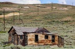 Casas arruinadas en un pueblo fantasma americano Imagen de archivo libre de regalías