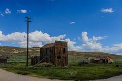 Casas arruinadas en un pueblo fantasma americano Fotografía de archivo libre de regalías