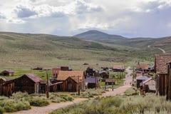 Casas arruinadas en un pueblo fantasma americano Imagen de archivo