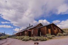 Casas arruinadas en un pueblo fantasma americano Foto de archivo libre de regalías