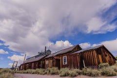 Casas arruinadas en un pueblo fantasma americano Imágenes de archivo libres de regalías