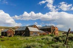 Casas arruinadas en un pueblo fantasma americano Fotos de archivo libres de regalías