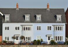 Casas azules Fotografía de archivo libre de regalías