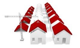 Casas bajo construcción stock de ilustración