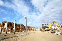 Casas bajo construcción Foto de archivo libre de regalías