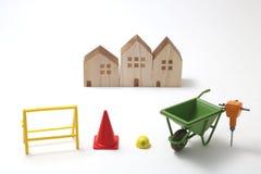Casas bajo construcción Fotos de archivo libres de regalías