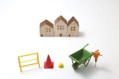 Casas bajo construcción Imágenes de archivo libres de regalías